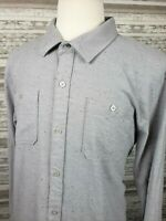 Travis Matthew Mens XXL Long Sleeve Button Front Gray Speckled Shirt Cotton/Poly