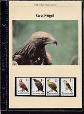 Echte Briefmarken mit Vögel-Motiven aus Ungarn