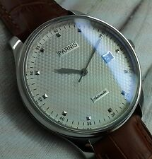 PARNIS AUTOMATIC POWER RESERVE STYLISH MENS UHR OROLOGIO MONTRE WATCH