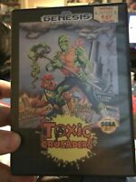 Toxic Crusaders Sega Genesis Game Cartridge W Case & Artwork AND Manual Troma