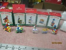 Merry Miniatures Hallmark Mickey Mouse Express Train Set of 5 Disney 1998