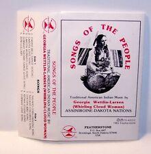 Songs of the People American Indian Music Assiniboine Dakota Nations Cassette !!