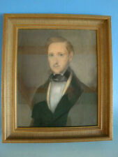 RS0919-247: Biedermeier Gemälde Pastell Portrait Mann um 1800