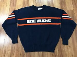MENS LARGE - Vtg 80s NFL Chicago Bears Cliff Engle Wool Mix Ditka Sweater USA