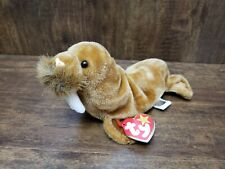1999 Ty Original Beanie Babies Paul The Brown Walrus w/Tags Plush Stuffed Animal