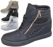 Zapatillas deportivas de mujer de color principal negro de piel sintética