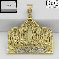 DG Men's Stainless-Steel,Gold,JESUS last dinner CZ Pendant*Unisex*Box