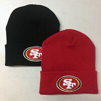 San Francisco 49ers Long Beanie Skull Cap Hat Embroidered SF Cuff Cuffed
