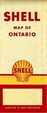 1955 Shell Road Map: Ontario NOS