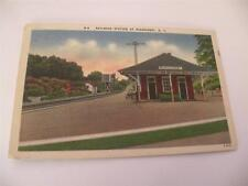 VINTAGE POSTCARD RAILROAD STATION AT RIDGCREST NC LINEN.