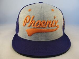 Phoenix Suns NBA Adidas Trucker Snapback Hat Cap Gray Purple