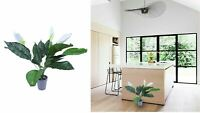 70cm Faux Artificial Home Decor Potted Lily Plant Indoor Flower Office Greenery