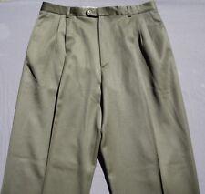 Zanella Italy 'Alter' Pleated Dress Pants Slacks. Olive, Men's Actual 35X34, EUC