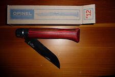 Très rare couteau Opinel Old School rouge N°12 bouleau lamellé