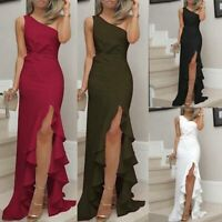 Cocktail Dresses Party Dress Tight Solid Summer Long Women's Evening Sleeveless