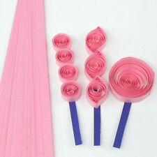 200 quilling self adhesive paper strips in candy pink - 5mm  wide