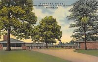 Atlanta Georgia 1940s Postcard Hopkins Motel