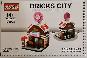 Mini Street View Building Block Toy Candy Shop - 124pcs