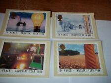 Industry Year 14 January 1986 PHQ 89 set Royal Mail Stamp Card Series MINT