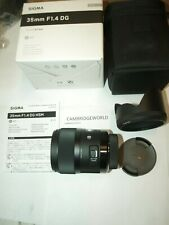 SIGMA 35mmF1.4 ART DG HSM PRIME LENS for PENTAX CAMERA NEW in FACTORY BOX & CASE