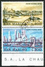 SAN MARINO - 1973 - New York 1673 e 1973
