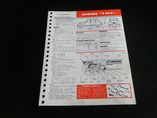 FICHE TECHNIQUE AUTOMOBILE RTA CITROEN 2 CV 6 (support6)