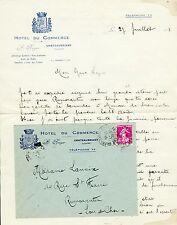 Dépt 44- Chateaubriant - Lettre + Enveloppe à Entête de l'Hotel du Commerce 1925