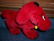 """11"""" Clifford The Big Red Dog Plush 2000 Scholastic  With Toy Bone-Shaped Dog Tag"""