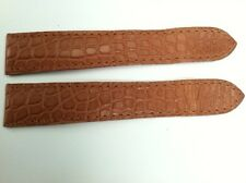 CARTIER Brown Alligator Watch Strap Band 21 mm x 18 mm for deployment buckle