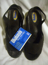 OKABASHI CLASSICS  FOOT THERAPY SANDALS (BLACK)- MADE IN USA SZ. S (51/2-61/2)
