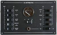 Marine 10 Way Circuit Breaker Switch Panel with Volvo Penta Voltmeter