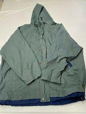 Mens NIKE Green Vintage Zip Up Nylon Oversized Football Jacket Sz XL