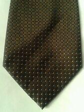 George brown square print polyester tie