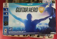 NEW Nintendo Wii U Guitar Hero Live 2 Guitar Controller & Game Bundle NEW OPENED
