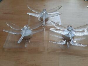 LED TeeLichter 3 Libellen mit Farbwechsler + Batterie enthalten