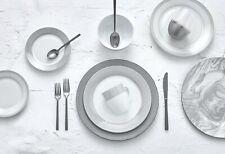 Round Rim Grey Line Dining Dinnerware set for 4