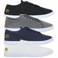 Mens Firetrap Pumps Canvas Lace Up Casual Swift Shoes Trainers Plimsoles