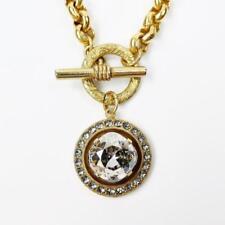 La Vie Parisienne Catherine Popesco Swarovski Crystal Toggle Necklace in Gold