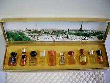 Vintage Les Meilleurs Parfums De Paris Mini Perfume Gift Set 10 bottles France