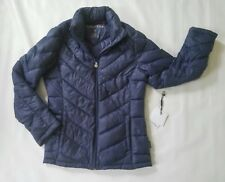 Calvin Klein womens navy blue packable down jacket size small- Lot C68