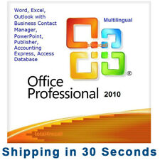Office 2010 Professional Pro Plus 32/64 bit - Multilanguage -100% Genuine