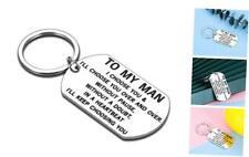 Valentines Day Keychain Gift for Him Men Husband Birthday Christmas