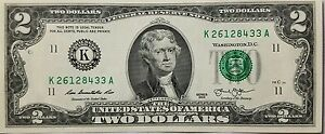 NEUF-Amérique, USA Billet 2 Dollars ($2USD TWO DOLLAR Bill) - NEUF - NON CIRCULE