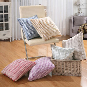 Super Soft Plush Cushion Covers Scatter Pillow Case Home Bed Sofa Decorative