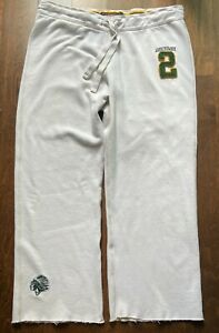 Vtg. Abercrombie & Fitch Men's Sweatpants Indian Chief Logo Loose XL White EUC