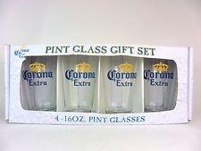 Corona Pint Beer Glasses Gift Set Four 4 Glasses