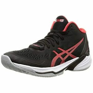 ASICS Volleyball Men's Shoes SKY ELITE FF MT 2 Black Red 1051A065 US6.5(25cm)