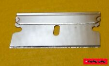 SILBER Rasierklinge zum schaben oder hacken - razor blade gold - NEU - TOP -