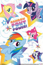 MLP MY LITTLE PONY RAINBOW PONY POWER POSTER 22x34 NEW PAST FREE SHIPPING