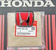 Genuine Honda Civic Type R Ek9 Front Red H Badge 1996 -1998